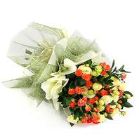 원형 꽃다발